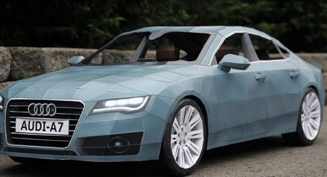 Audi A7 Made of Paper
