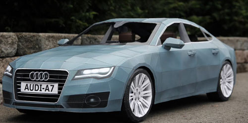 Audi A7 Made of Paper in technology art  Category