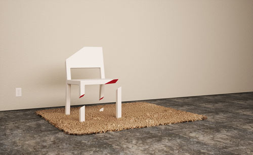 Cut Chair by Peter Bristol