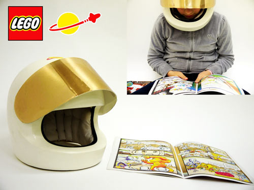 Audio Comic with LEGO Helmet in technology style fashion main  Category