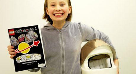 Audio Comic with LEGO Helmet
