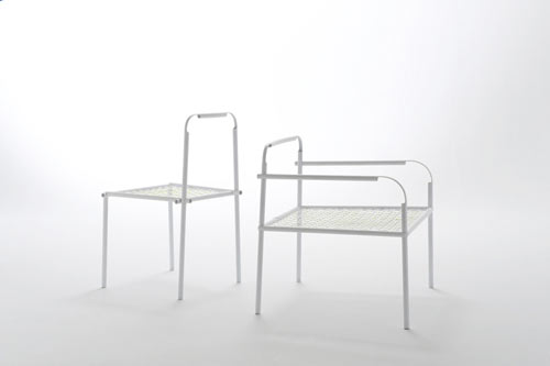 Bamboo-Steel Chair by Nendo