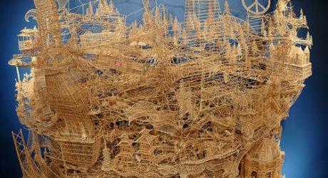 Scott Weaver's San Francisco Made of 100,000 Toothpicks