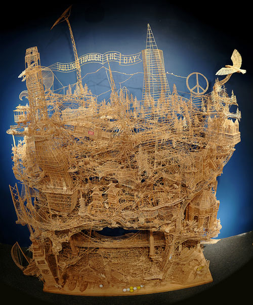 Scott Weaver's San Francisco Made of 100,000 Toothpicks