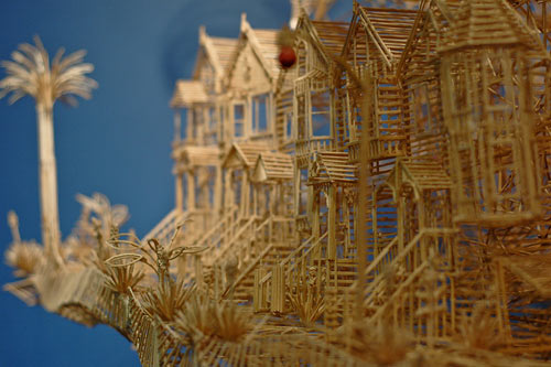 Scott Weavers San Francisco Made of 100,000 Toothpicks