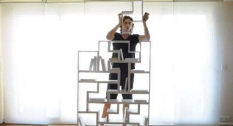A Real Life Tetris Bookshelf