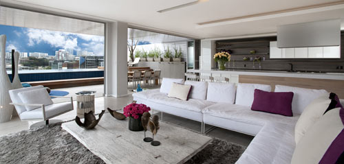 Penthouse Interior by SAOTA and OKHA Interiors in main interior design architecture  Category