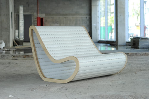 Old Plastic Roller Blinds Become A Chair in main home furnishings  Category