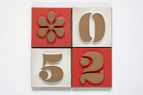 House Numbers from Heath Ceramics and House Industries in interior design home furnishings architecture  Category