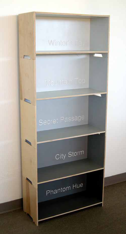 Modular Paint Chip Bookshelf