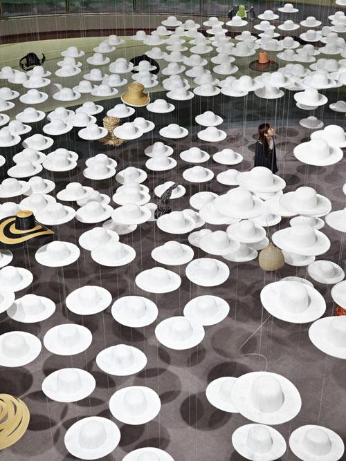 Akio Hirata's Exhibition of Hats in main art  Category