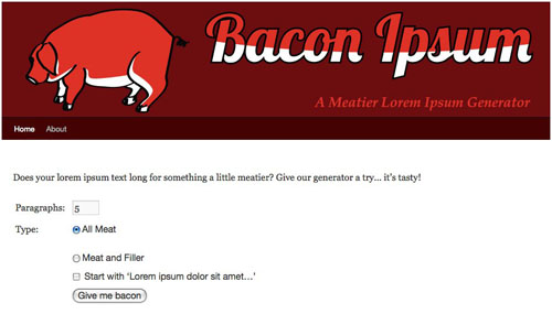Bacon Ipsum in technology  Category