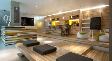 Qi Wellness Center Lobby by Manada Architecture Studio