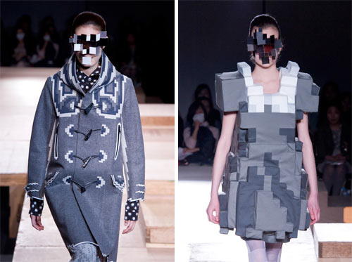 Pixel Fashion by Kunihiko Morinaga for Anrealage in style fashion  Category