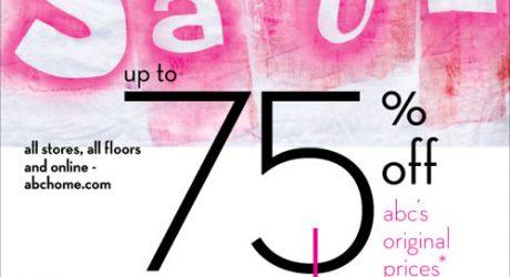 Reminder: ABC Carpet & Home Summer Tag Sale