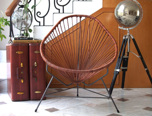 Merveilleux Leather Acapulco Chair