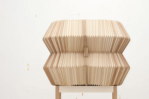 Accordion Cabinet by Elisa Strozyk and Sebastian Neeb