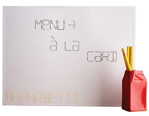 Alphabetti Spaghetti Placemat in home furnishings  Category