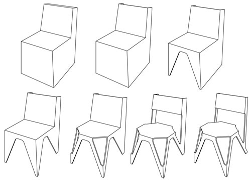 Chair Design Drawings The Bone Chair by Jds