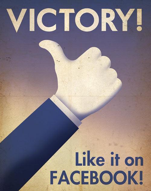 Social Media Propaganda Posters by Aaron Wood