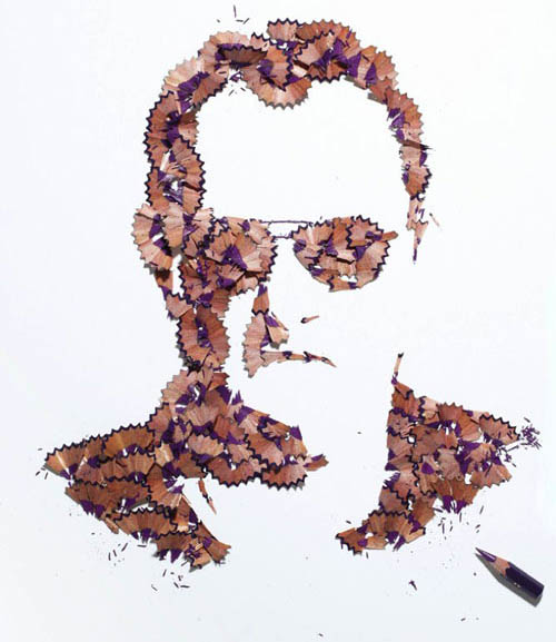 Pencil Shaving Portraits by Kyle Bean in art  Category