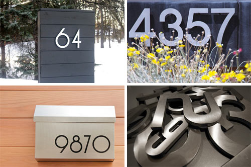 Modern House Numbers Giveaway in sponsor news events interior design home furnishings  Category