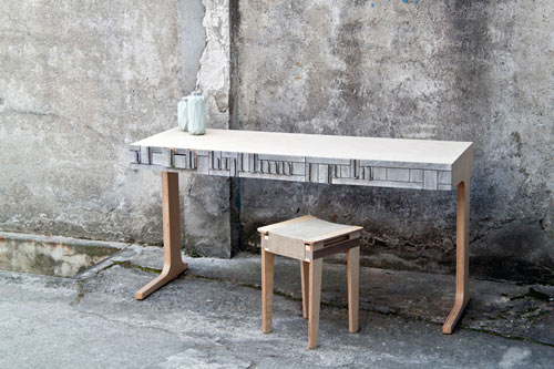 NewspaperWood by Vij5 and Mieke Meijer in technology main interior design home furnishings art architecture  Category