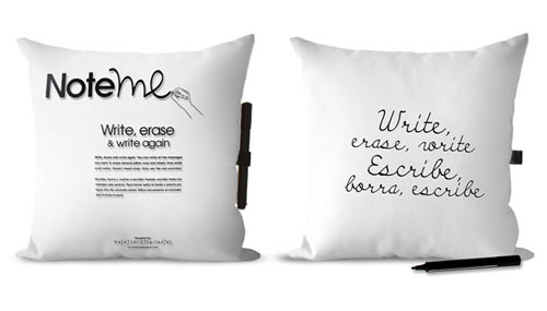 Note Me Pillow  in home furnishings  Category