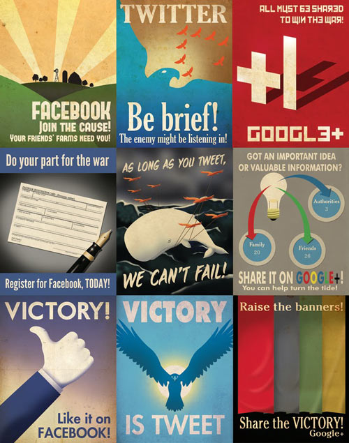 Social Media Propaganda Posters by Aaron Wood in art  Category
