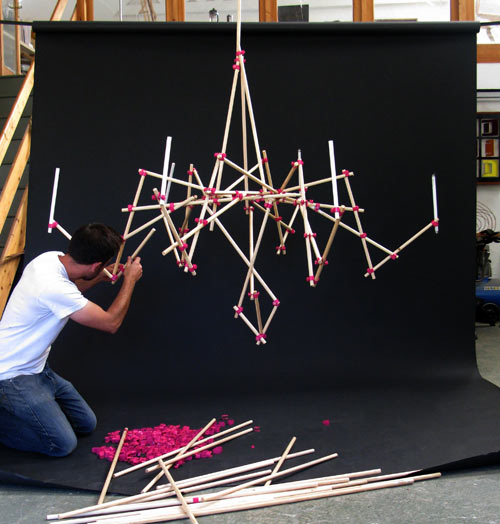 Stick Chandelier by Freshwest