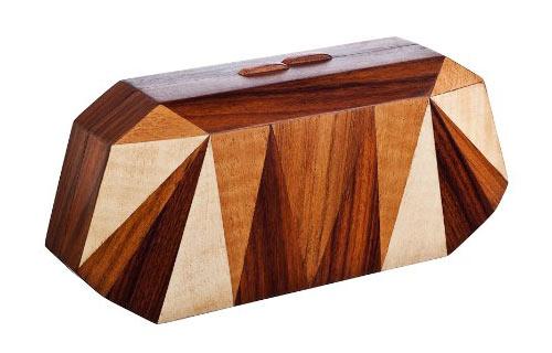 Wooden Clutch by Nada Sawaya