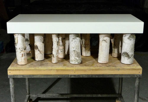 Concrete and Birch Furniture from The Refinery Concrete