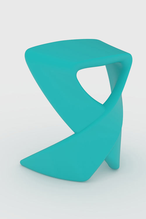 Ribbon Stool by Nick Rawcliffe for Deadgood