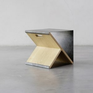 Steel Stool by Noon Studio
