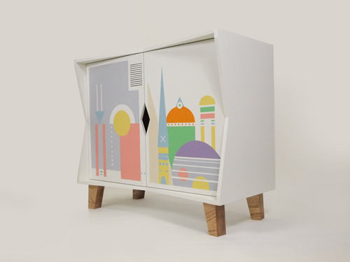 Two Halves Cabinet by Charlie Crowther-Smith and Christian Taylor
