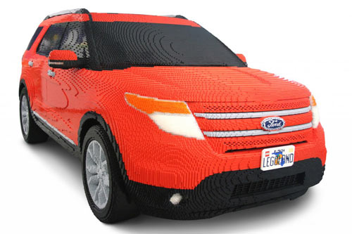 Ford Explorer Made of LEGOs