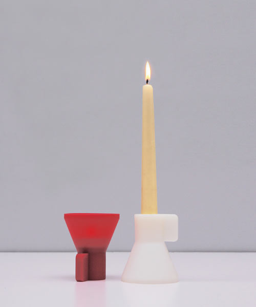 Duo Candle Holder by Oscar Diaz