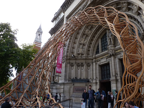 LDF 2011: Timber Wave at the V&A in main art architecture  Category