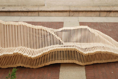 Polymorphic Kinetic Bench in main home furnishings  Category