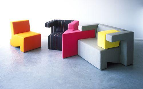 Modular seating by studio lawrence design milk - Divani componibili colorati ...