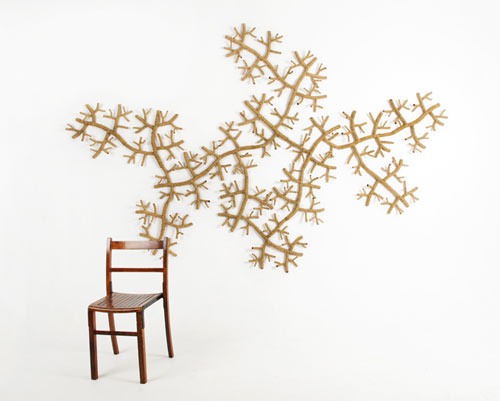 STICK Wall Covering by Jiaqi Zhou