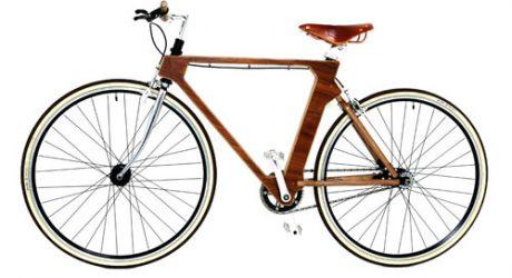 Flat Frame Wooden Bike