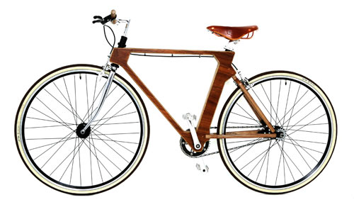 Flat Frame Wooden Bike