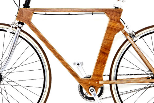 Flat Frame Wooden Bike in technology style fashion main  Category