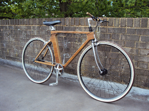 Flat Frame Wooden Bike in technology style fashion  Category