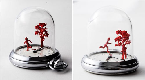 Watch Sculptures by Dominic Wilcox