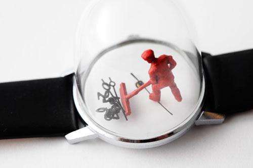 Watch Sculptures by Dominic Wilcox