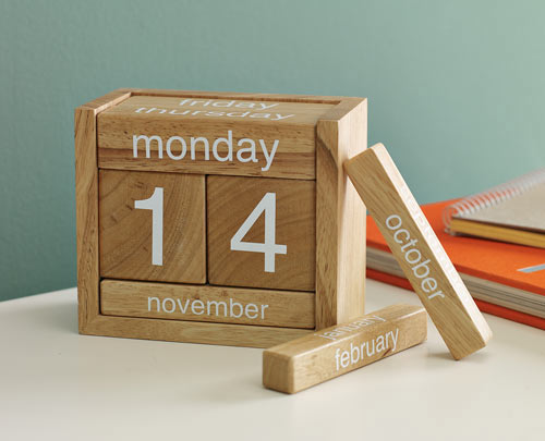 Wooden Perpetual Calendar Design Milk