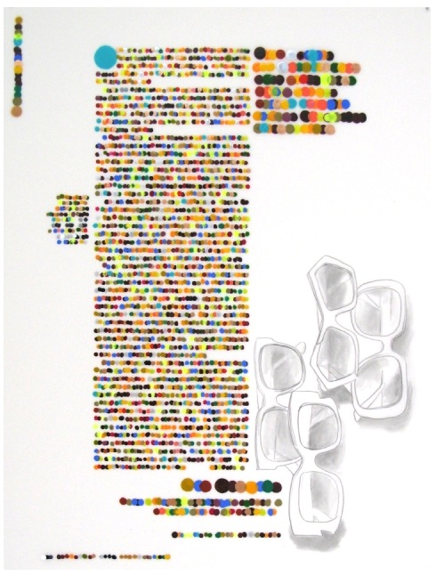 Color Codification Dot Drawings by Lauren DiCioccio