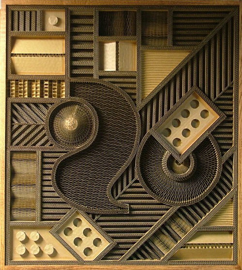 Corrugated Art By Mark Langan
